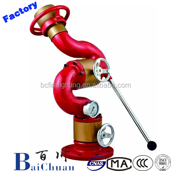Fixed Manual Control Fire Water Cannon For Firefighting/fire water cannon