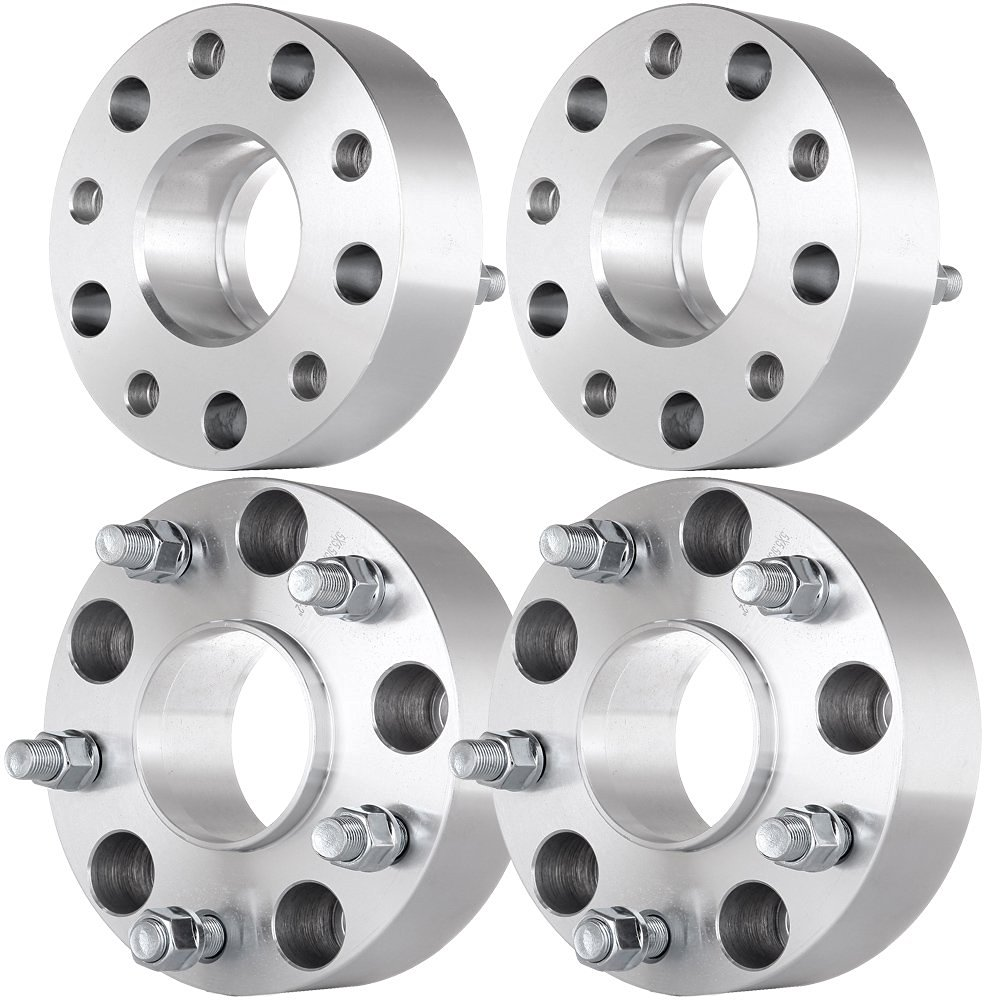 """Scitoo (4) 2"""" Wheel Spacers 5x5.5 (5x139.7) 77.8mm Hubcentric Adapters 9/16"""" Thread For 2011 2012 2013 Ram 1500"""