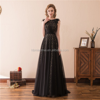 2018 Suzhou Black Evening Dress Heavy Beaded Lace Long Prom