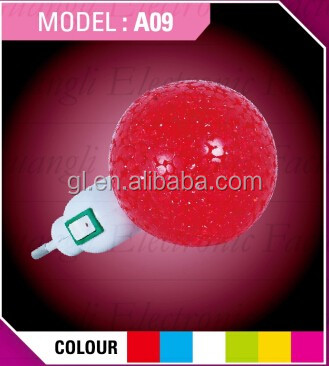 A09 HOT SALE promotional gift Ball EVA mini switch LED nightlight CE ROHS  approved