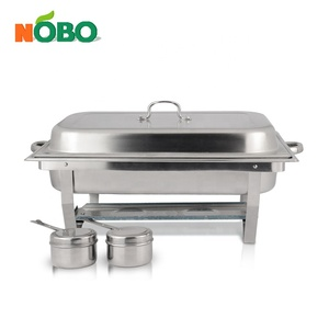 Rectangular Buffet Accessories Stainless Steel Chafer Full Size Chafer Chafing Dish with Fuel Holder and Lid