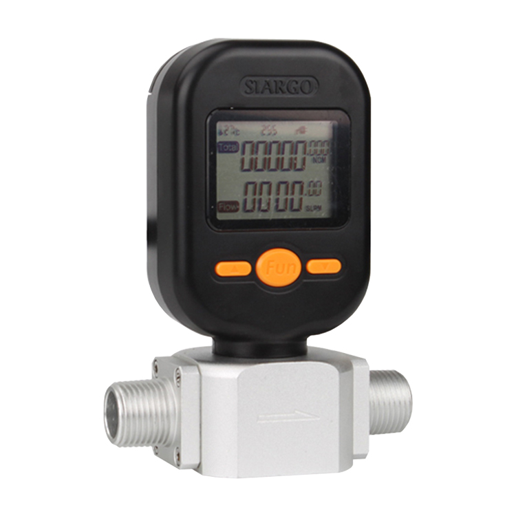 MF57 Small digital display electronic gas compressed air nitrogen oxygen flow meter Barometer