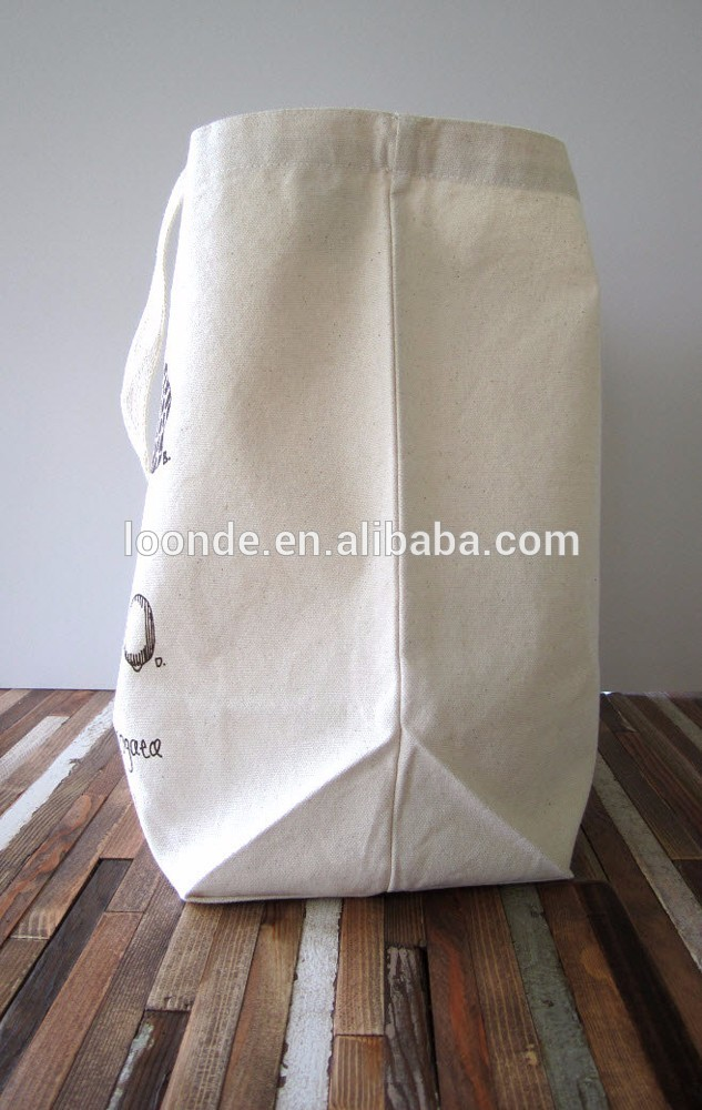 Custom size recycled natural cotton calico bag