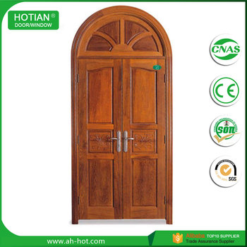 Double Arched Entry Doors Cheap Price Wood Doors Good Solid Wood