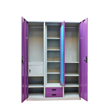 KD Steel Armoire 3 Door Bedroom Wardrobe Godrej Almirah Designs