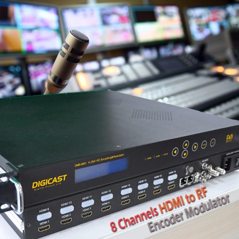 dmb-9581) Newest 8 Hdmi Input Modulator Dvb T2 Encoder Hdmi To Dvb ...