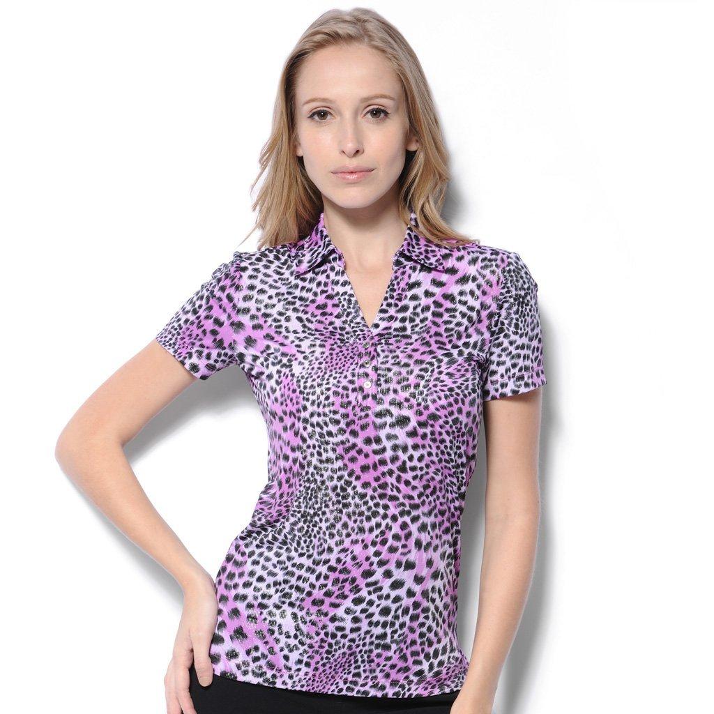Buy Monterey Club Ladies Dry Swing Glitzy Leopard Print Shirt 2614