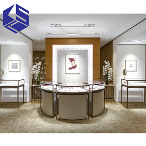 Fashion glass display cabinet and showcase for jewelry shop