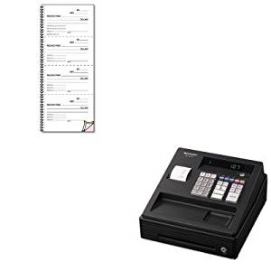 KITRED23L117SHRXEA107 - Value Kit - Rediform Money and Rent Unnumbered Receipt Book (RED23L117) and Sharp XEA107 Cash Register (SHRXEA107)