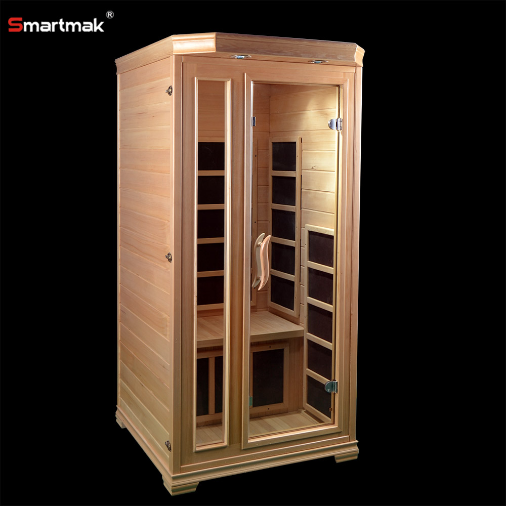 Maison 1 personne infrarouge lointain sauna int rieur for Fabrication sauna interieur