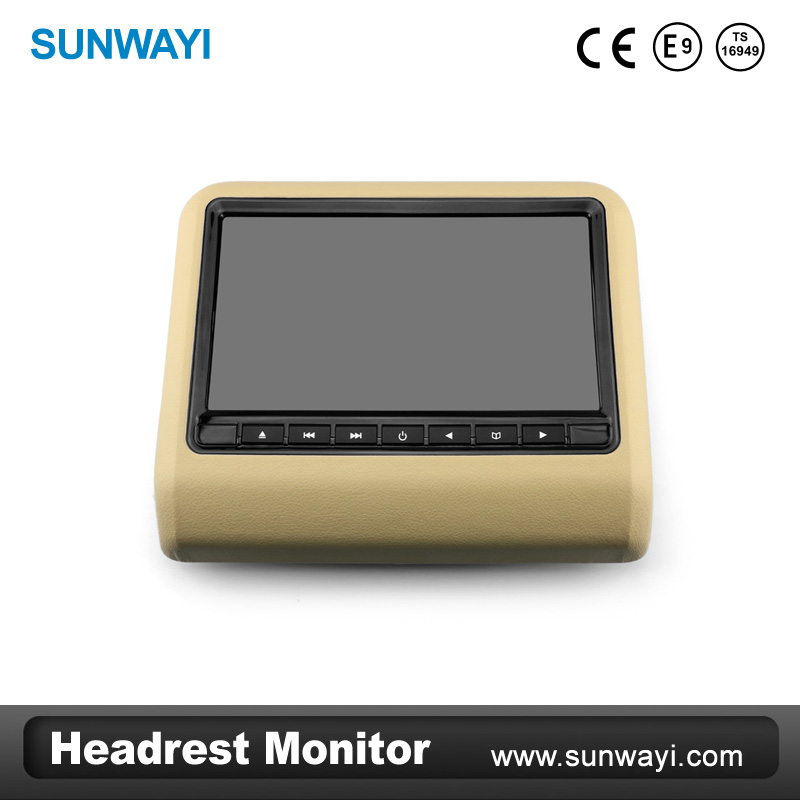 ใหม่ 7 นิ้ว headrest dvd player usb/sdir/fm