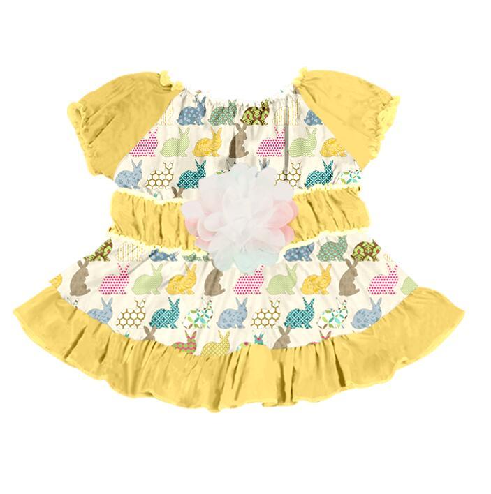 Boya Boutique Skirt Beautiful Girls Lapin Pattern Sleeveless Dress
