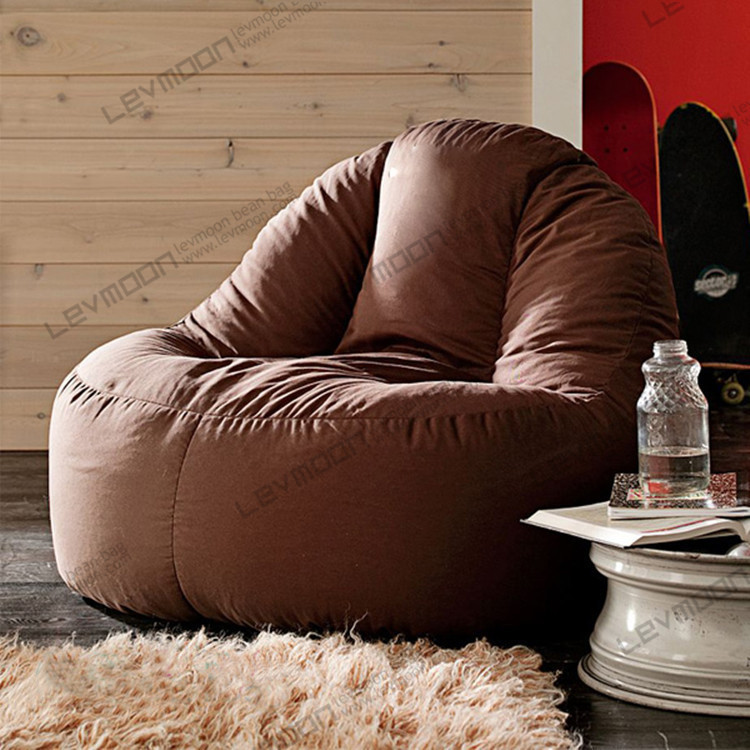 Free Shipping Coffee Bean Bag Chairs For Adults 100cm