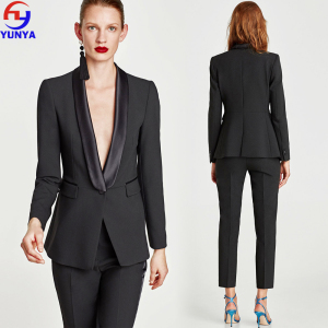 2018 trending producten fashion fancy dames zwart slim fit office mujer vrouw suits blazer