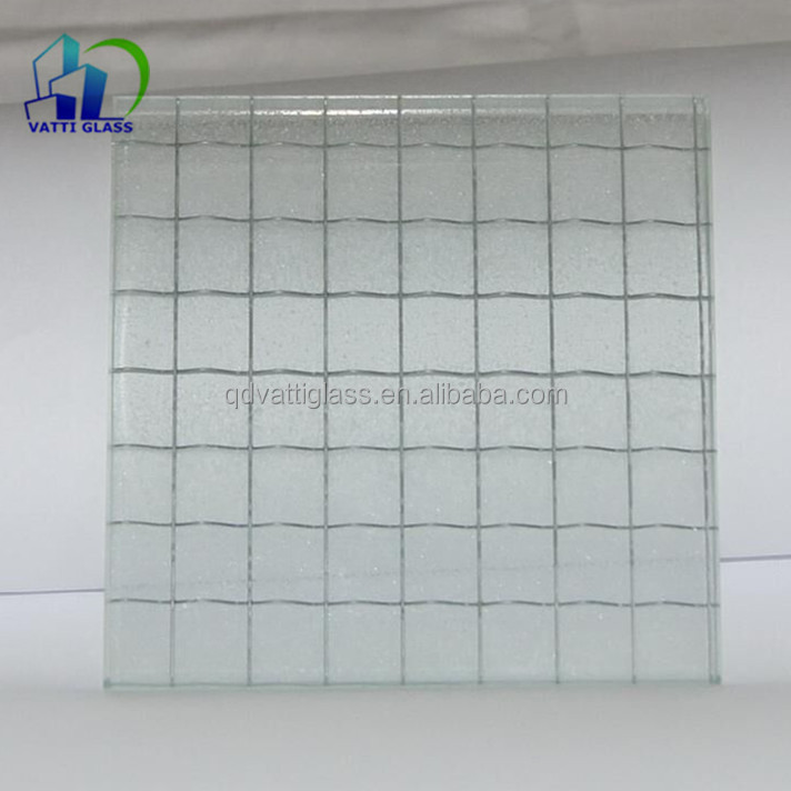 6mm Safety Mesh Wired Clear Glass,Wired Glass Pattern Glass,Wire ...
