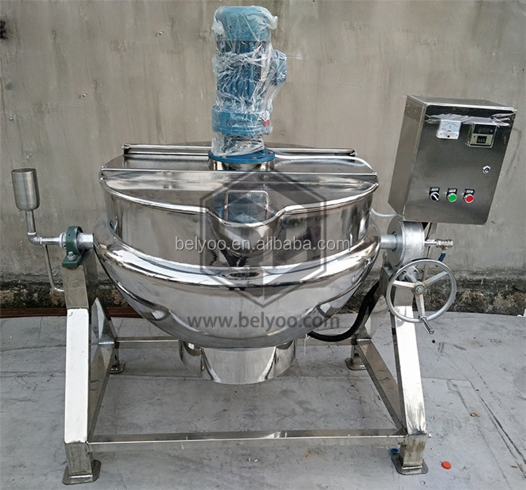 Commercial jacketed kettle/melting cooking pot for sugar/electric sugar melting machine