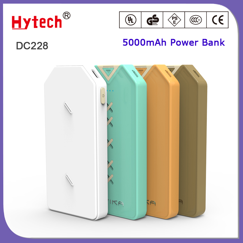 DC228FC special self-developed tooling 5000mAh dual port disposal mobile power bank