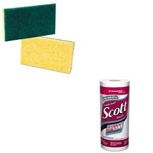 KITKIM41482PMP174 - Value Kit - SCOTT 41482 Kitchen Roll Paper Towels (KIM41482) and Premiere Pads Medium Duty Scrubbing Sponge (PMP174)