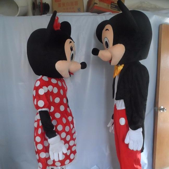 Hot koop custom ontwerp fancy mickey & minnie kostuum, populaire cartoon mouse mascotte kostuums