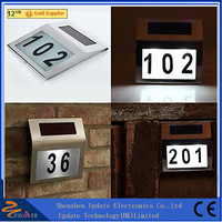 Solar Powered House Address Light with Numbers
