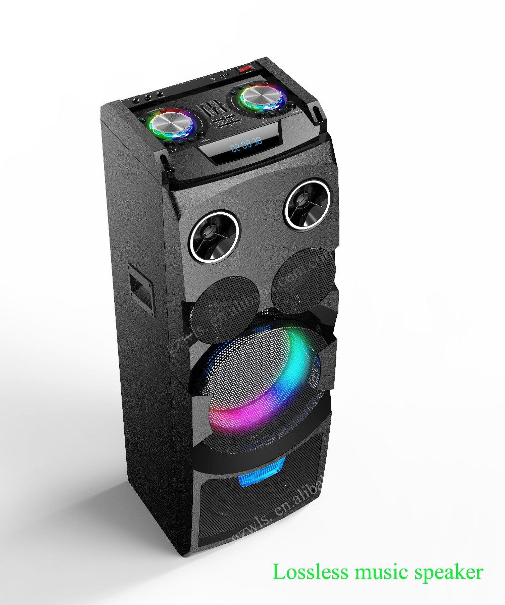 2018 new design fashion powered DJ Speaker excellent quality BT boombox with flashing light