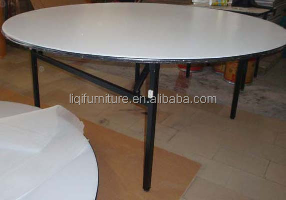 Black Round Folding Table Frame LQ-F003