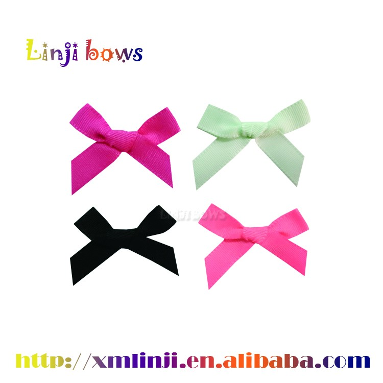 2016 Wholesale mini satin ribbon bows for underwear