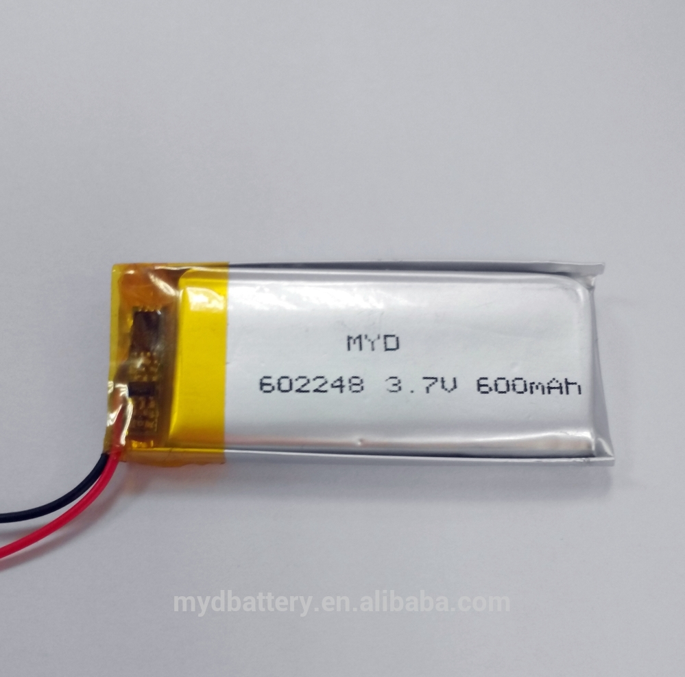 Lipo Battery 3.7v 600mah High Power Rechargeable Li-ion Battery ...