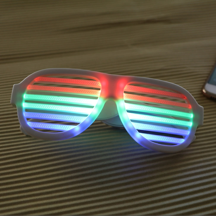 Men's Eyewear Frames The Cheapest Price Wholesale El Wire Flashing Light Up Shutter Glasses Shades Eyewear Party Concert Favor Jade White Apparel Accessories