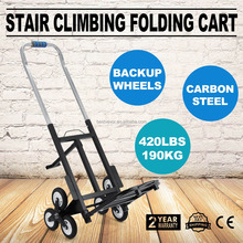 190kg Heavy Duty 6 Wheel Stair Climber Climbing Hand Sack Trolley Cart Truck