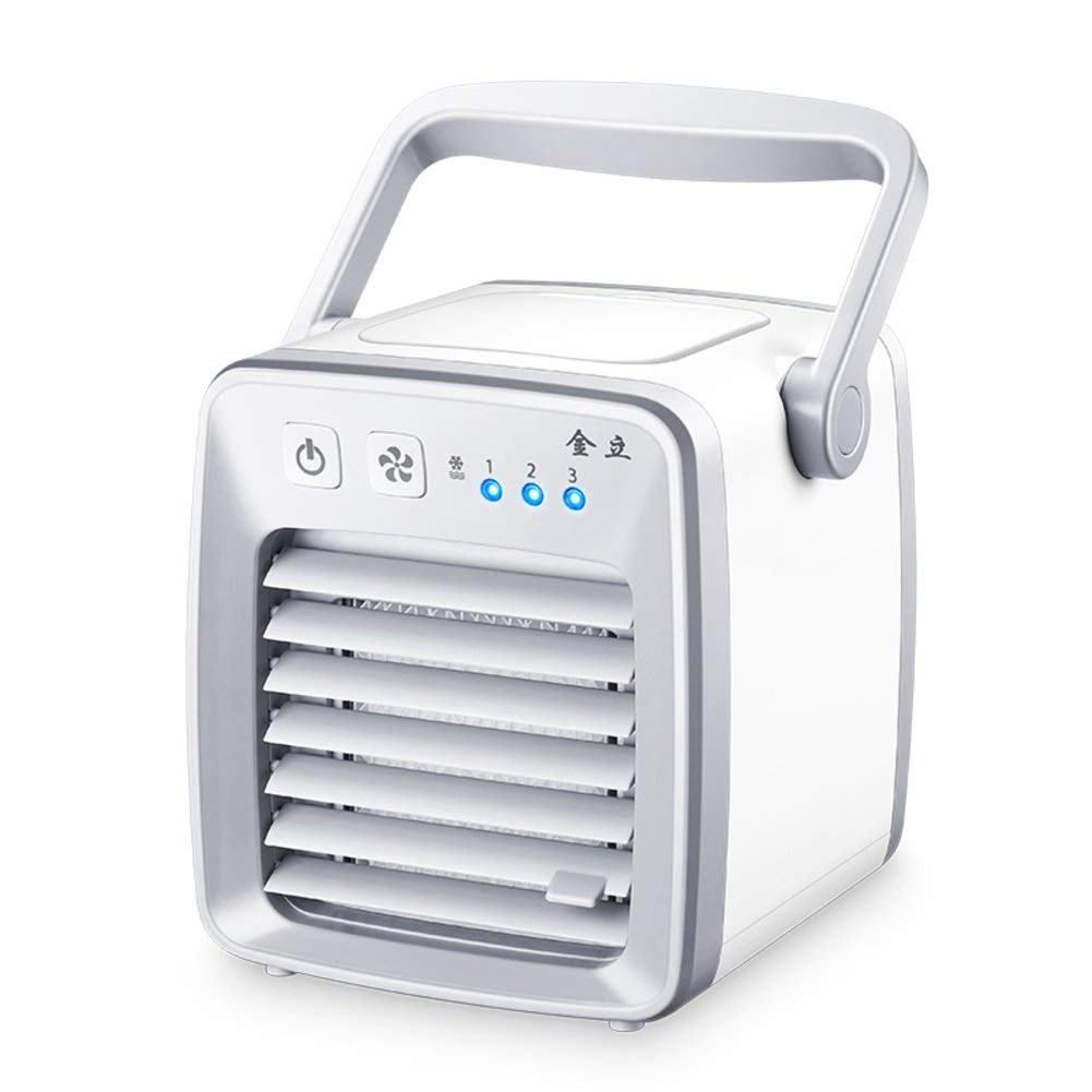 Cooler Mini portable air conditioner fan,Small desktop fan Compact personal space air Usb air conditioning fan mute for students bed office-A 5x9inch