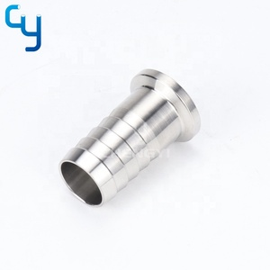 Sanitary 304 316L Stainless Steel pipe quick connection ferrule Tri clamp hose coupling