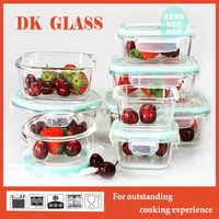 Heat Resistant Borosilicate Glass Food Container With Plastic Lid For Baby Food Storage