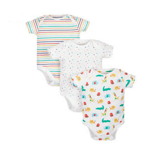 Wholesale baby high quality 100% cotton colourful lovely baby romper bodysuit