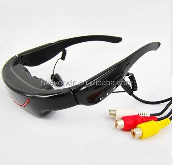 72inch virtual display video glasses with 4GB and AV IN Video eyewear FPV Google mobile theater portable home theater