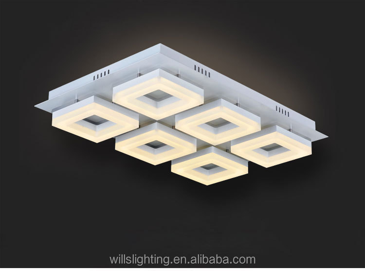 Luxury Square Acrylic Dubai Led Ceiling Lights With Remote Control ...