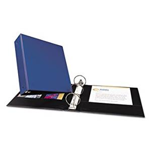 """""""Economy Non-View Binder With Round Rings, 11 X 8 1/2, 3"""""""" Capacity, Blue"""""""