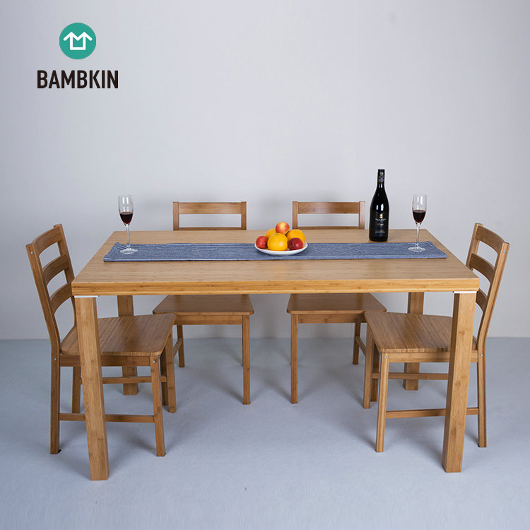 Bambkin Bamboo Dining Room Furniture Kitchen Dining Table Set For 6  6-pieces Rectangle Dining Table Set - Buy Dining Table Set,6-pieces  Rectangle ...
