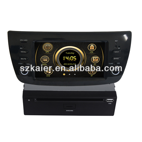 "6.2"" fiat 500 car dvd player built-in gps bluetooth with 6CD Virtual and and Navigation"