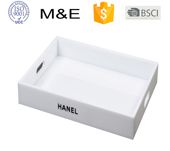 Square White Acrylic Serving Tray For Sales