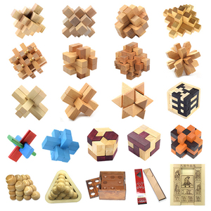 Wooden puzzle toys adult puzzles unlocked children gifts primary school students locks birthday gifts