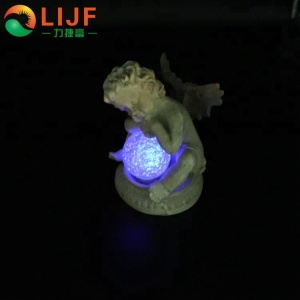LIJF JW-700P12 Solar Resin Angel Garden Light