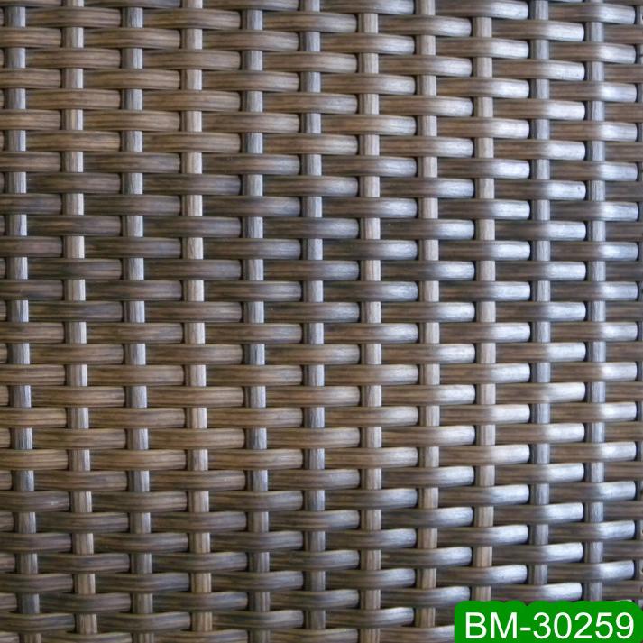 Peel Shape Artificial Braiding Rattan Wicker Sheet For Outdoor