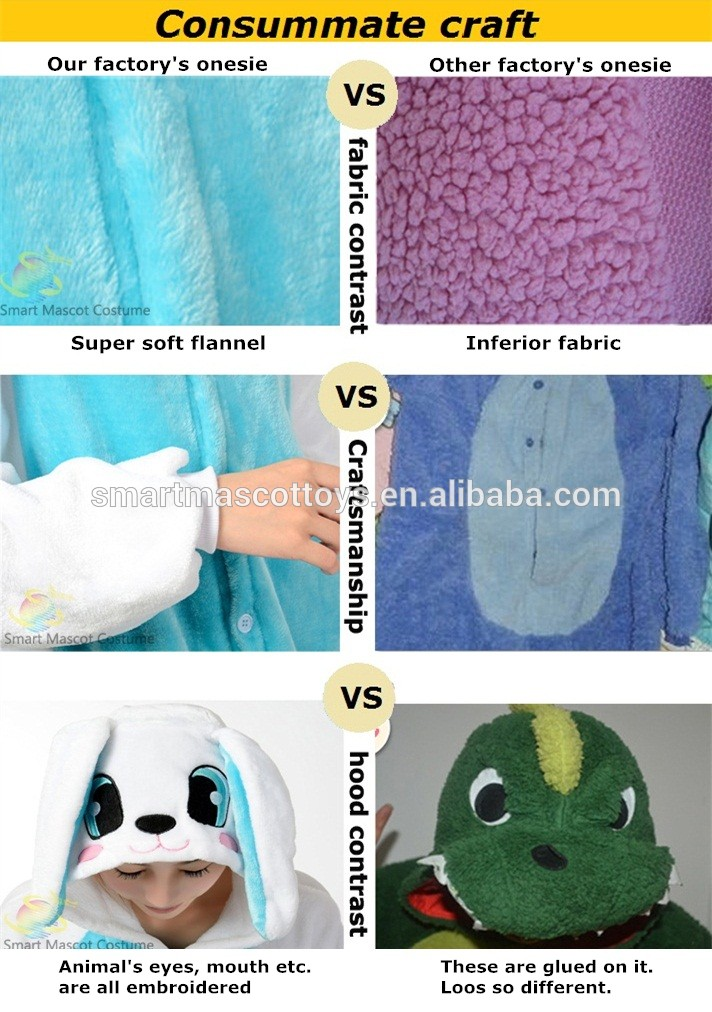 Wholesale Unisex Creative Customize Onesie Animal Conjoined Pajamas
