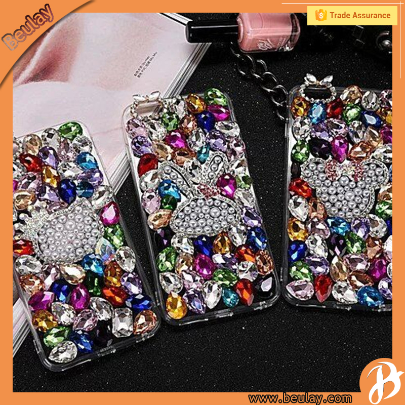 Made usa wholesale products for iphone6 plus crystal bling phone case