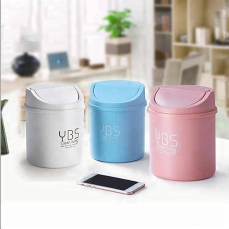 Home & garden elegant mini plastic trash bin