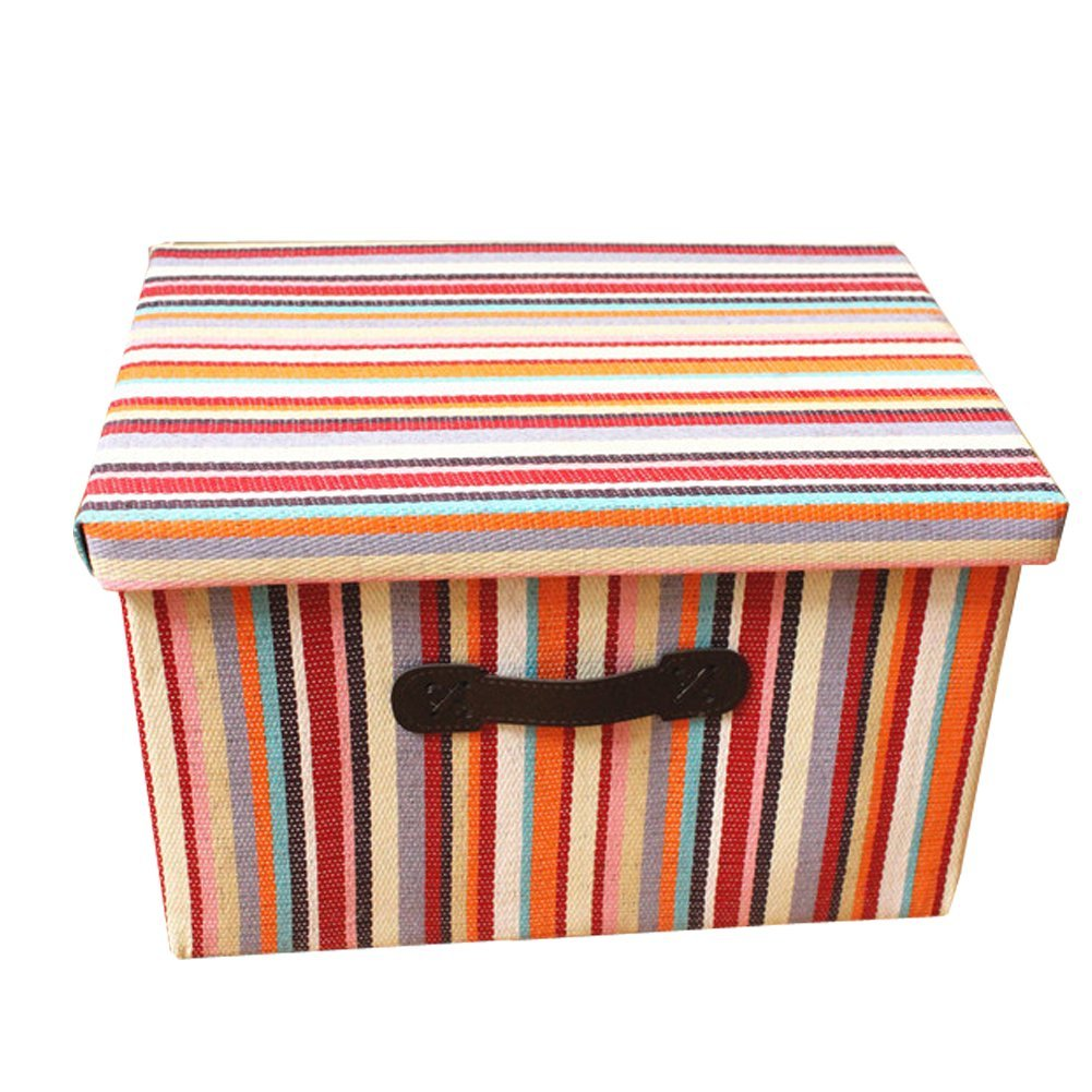 Tuzama Home Colorful Folding Lidded Storage Boxes