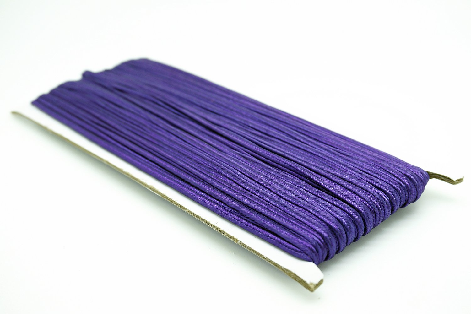 PURPLE 3mm Polyester Soutache Braid Cord String Beading Sewing Quilting Trimming - 30 Yards