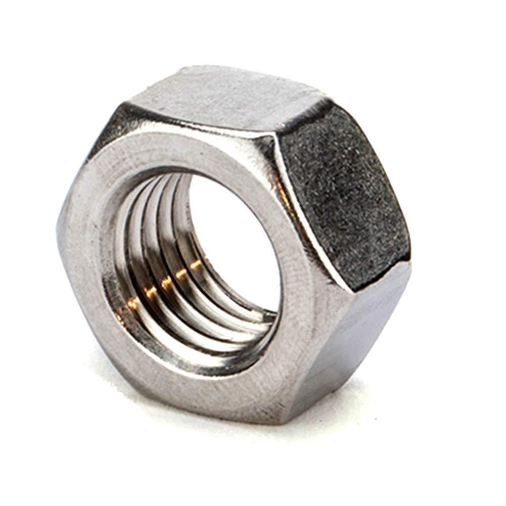 Fullerkreg 10-24 Machine Screw Hex Nuts, Stainless Steel 18-8, Bright Finish, Quantity 100