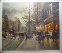 Factory provide directly/paris street scene oil painting/canvas support